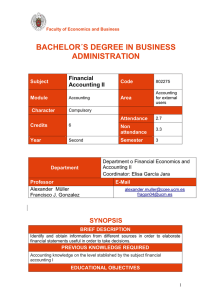 BACHELOR´S DEGREE IN BUSINESS ADMINISTRATION