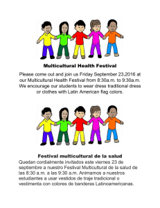 Multicultural Health Festival Please come out and join us Friday