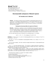 Decomposable subspaces of Banach spaces