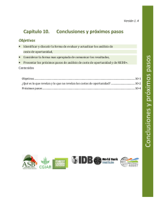 Conclusiones y próximos pasos - The Forest Carbon Partnership