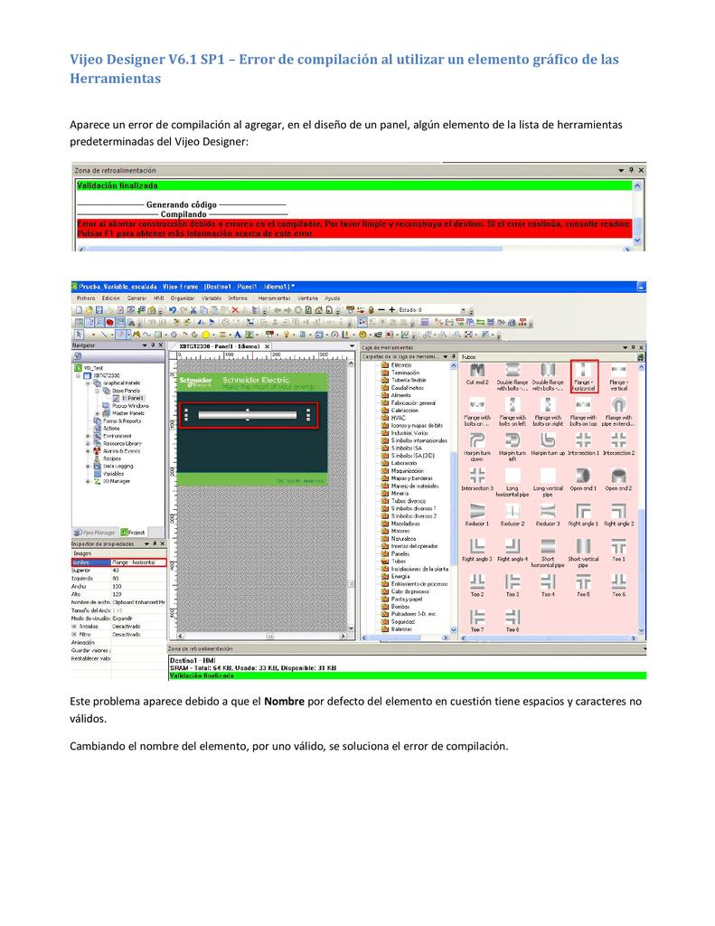 Vijeo Designer V6 1 SP1 – Error de compilación
