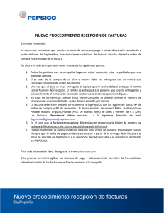 Instructivo de recepción de facturas