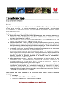 Tendencias Generales - Universidad Autónoma de Occidente