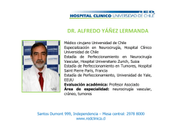 dr. alfredo yáñez lermanda - Hospital Clínico Universidad de Chile