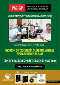 TEMARIO GESTION FINANCIERA Y TESORERIA 2016