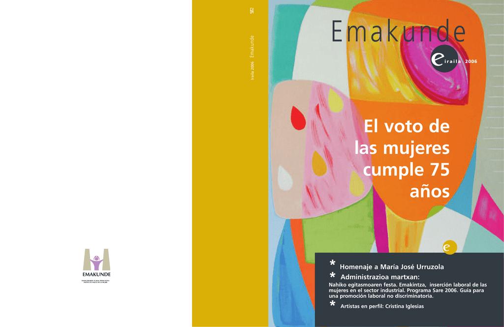 Septiembre De 2006 El Voto De Las Mujeres Cumple 75 Años