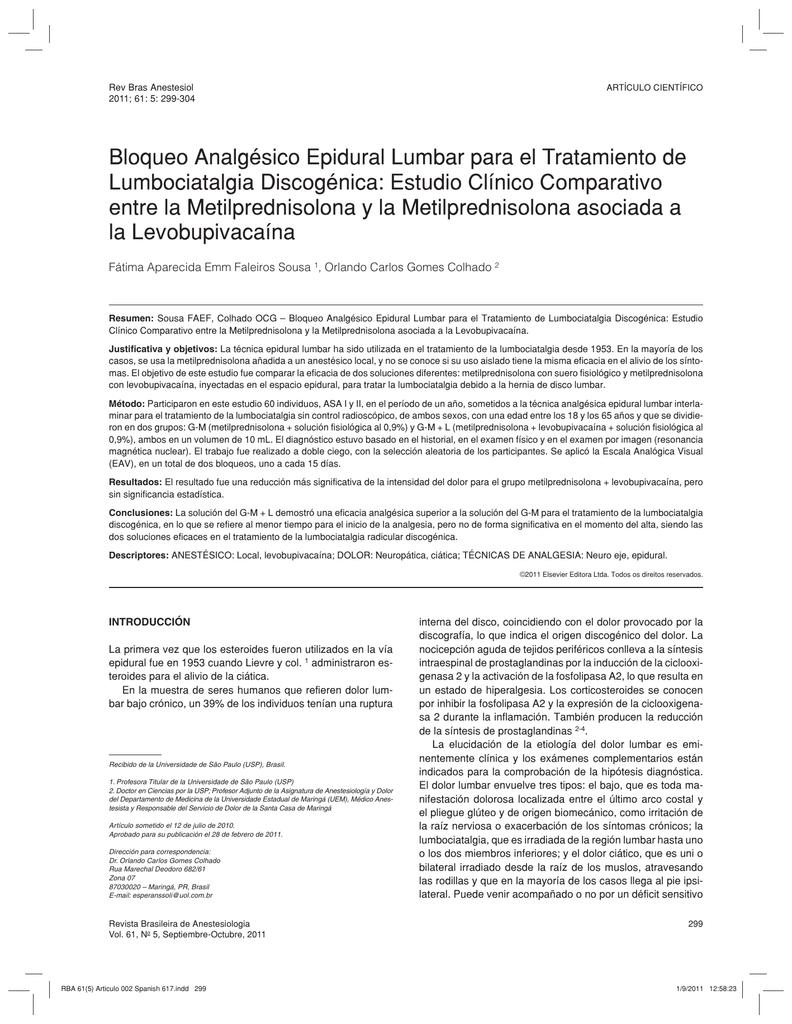 metilprednisolona 4 mg de ciática