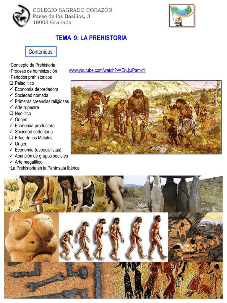 tema 9: la prehistoria