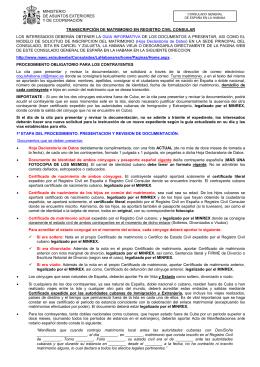 Transcripci N De Matrimonio En Registro Civil Consular