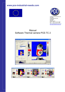 www.pce-industrial-needs.com Manual Software Thermal camera