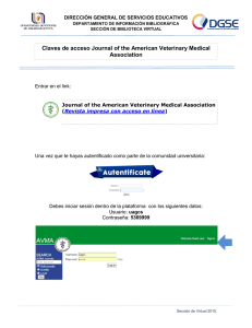 Claves de acceso Journal of the American Veterinary Medical
