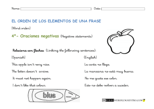 4º- Oraciones negativas (Negative statements)