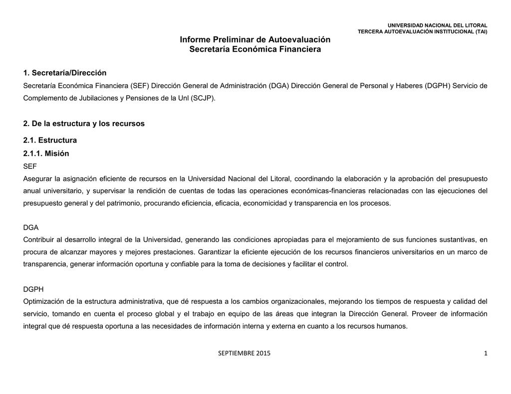 Informe Secretaría Económico Financiera
