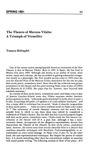 The Theatre of Maruxa Vilalta: A Triumph of Versatility