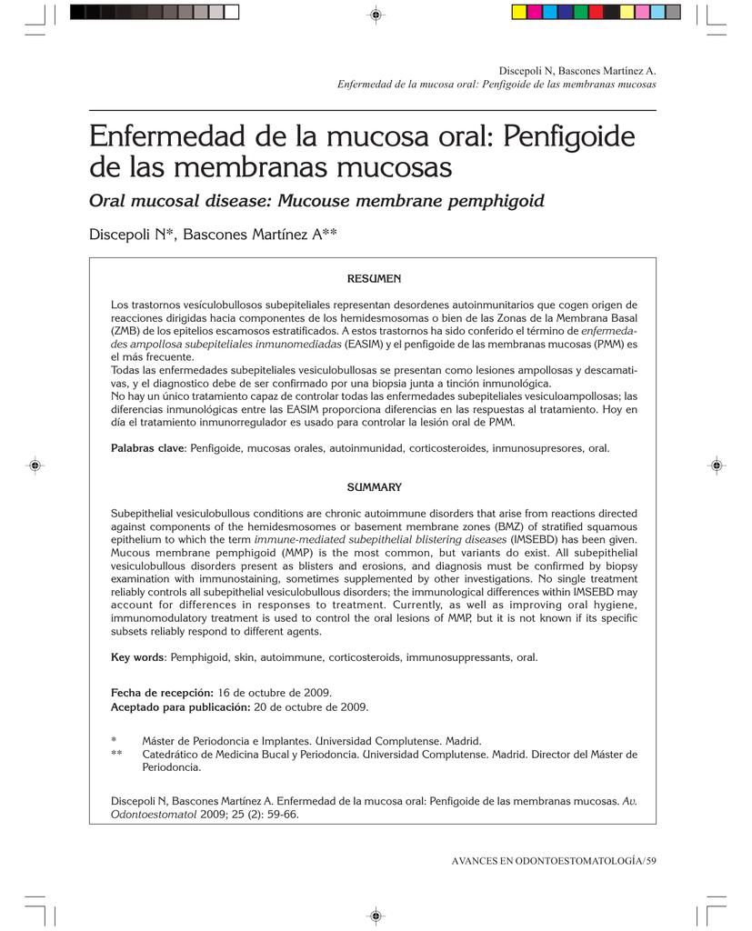 Penfigoide de las membranas mucosas