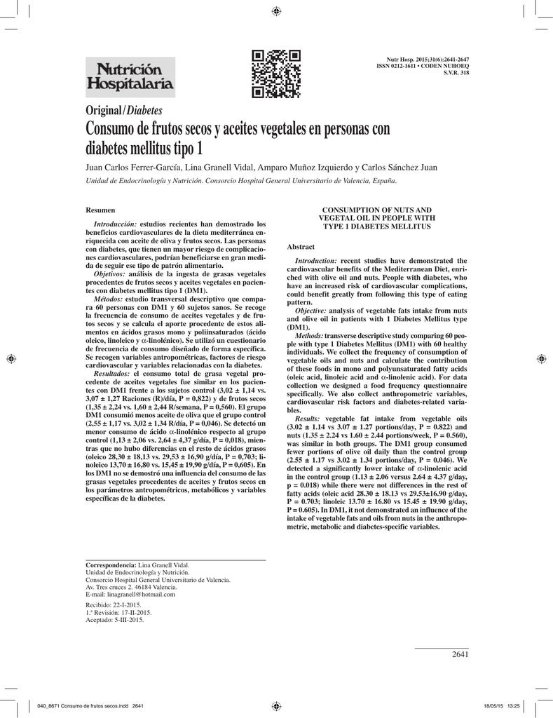 cuestionario de autocontrol de diabetes pdf