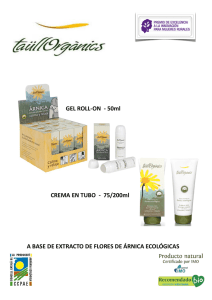 GEL ROLL-ON - 50ml CREMA EN TUBO