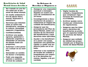 Patients` Rights Advocacy brochure Spanish 14 pt font revised 10