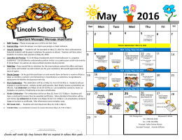 May 2016 - School District 89