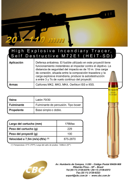High Explosive Incendiary Tracer, Self Destructive M72E1