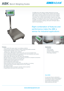 ABK Bench Weighing Scales Right combination of features and