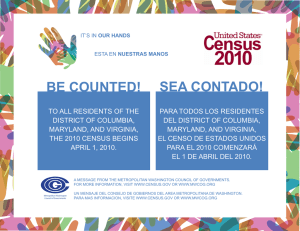 be counted! sea contado! - Metropolitan Washington Council of