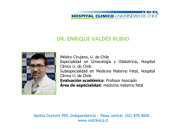dr. enrique valdés rubio - Hospital Clínico Universidad de Chile