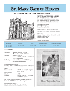 Bulletin.11.08.15 - St. Mary Gate of Heaven RC Church