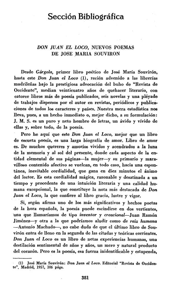 Pdf Don Juan El Loco Nuevos Poemas De José María Souvirón