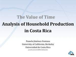 The Value of Time Analysis of Household Production in Costa Rica