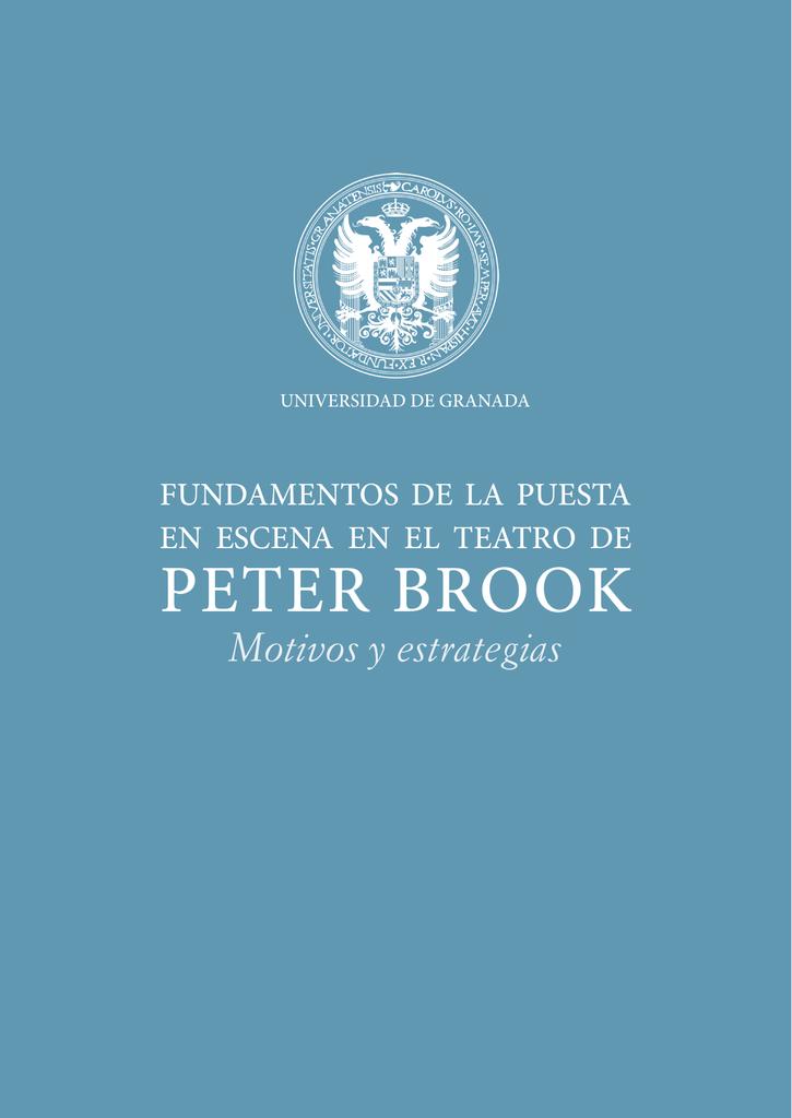 peter brook - Repositorio Institucional de la Universidad de Granada