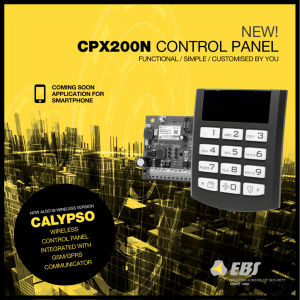 NEW! CPX200N CONTROL PANEL