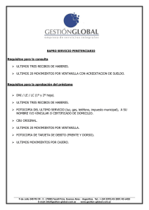 Requisitos para la consulta ULTIMOS TRES
