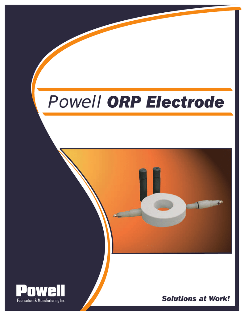 Powell ORP Electrode - Brine Chlorine Operations