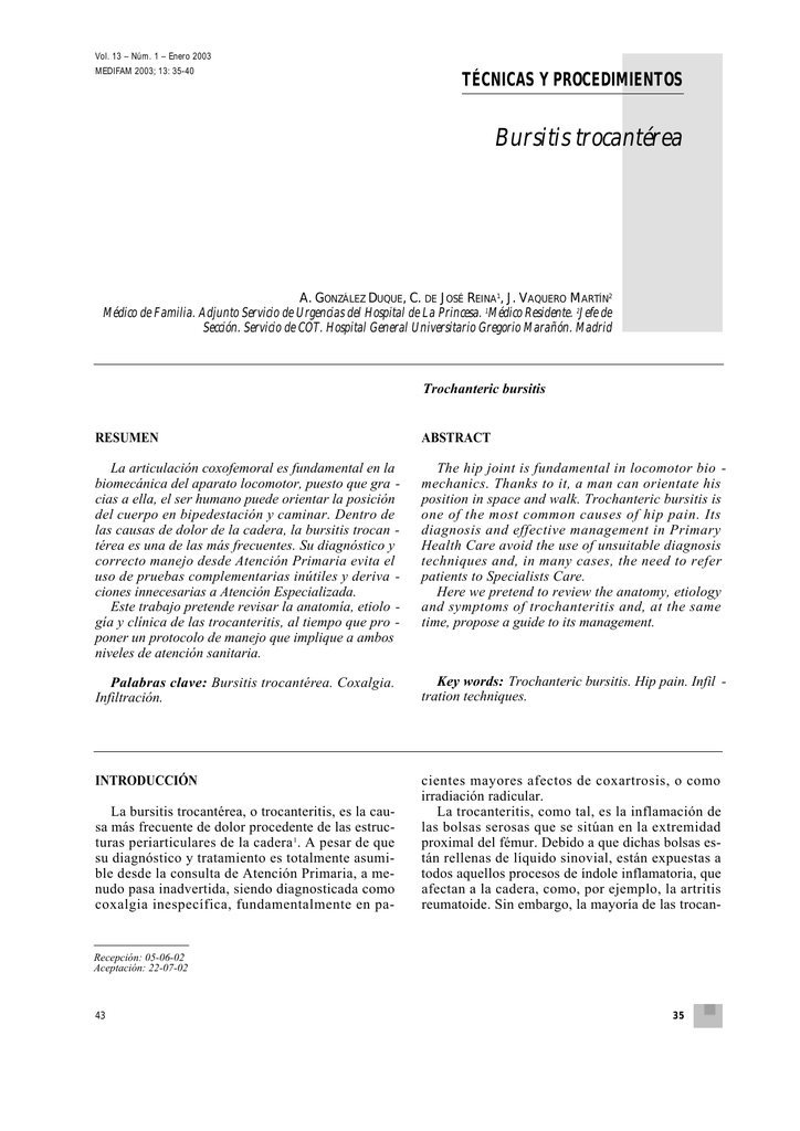 Bursitis trocantérea
