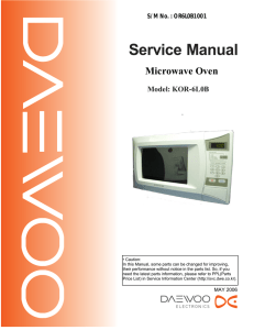 Service Manual - [Daewoo Electronics Service Information System