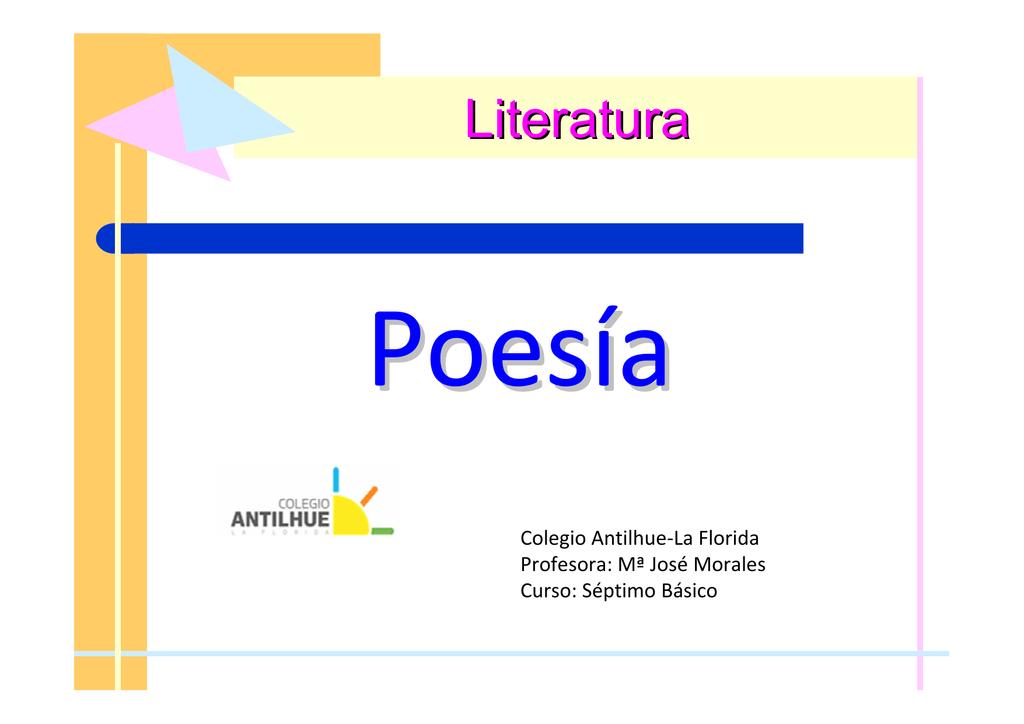 La Poesia Métrica Ppt 7 Básico