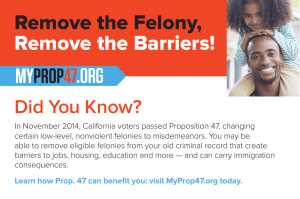 Remove the Felony, Remove the Barriers! .ORG