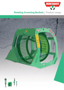 Rotating Screening Buckets | Product range