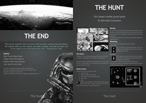 THE END THE HUNT