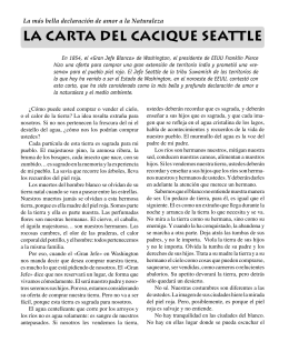 La carta del cacique Seattle