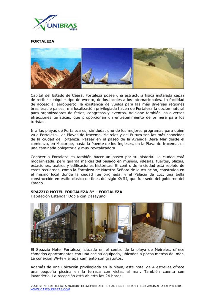 Fortaleza Viaje A Brasil Al Mejor Precio Con Viajes Unibras