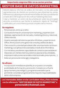 GESTOR BASE DE DATOS MARKETING