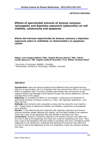 Effects of spermicidal extracts of Ananas comosus (pineapple) and