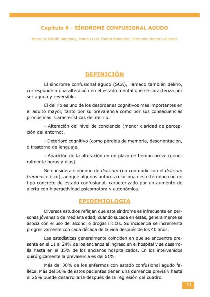 6. síndrome confusional agudo