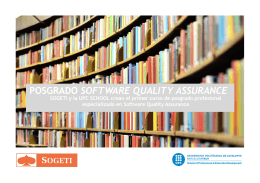 posgrado software quality assurance