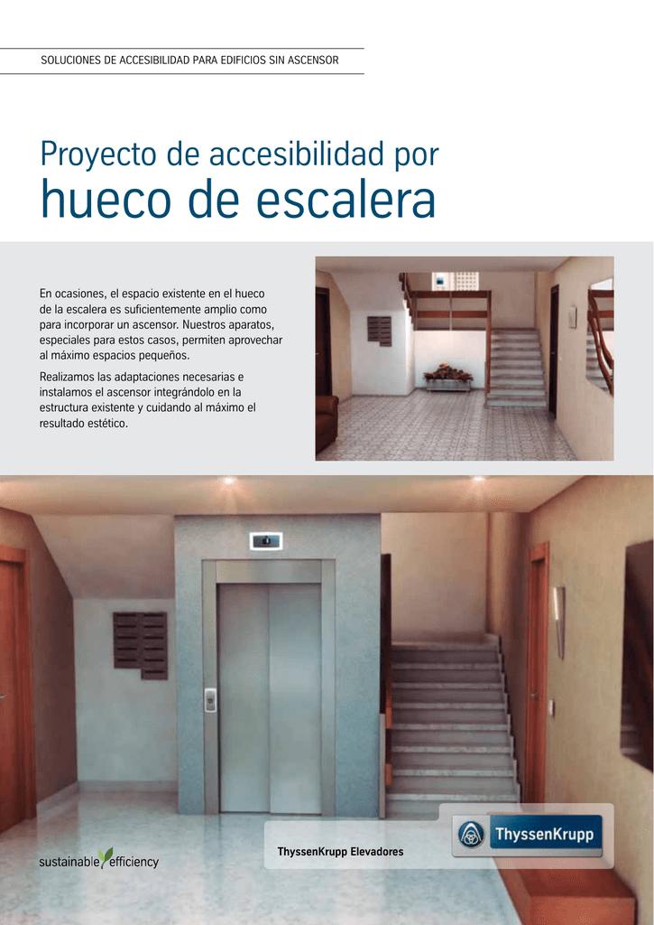 hueco escalera Hueco De Escalera ThyssenKrupp Elevadores