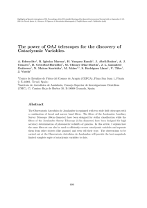 The power of OAJ telescopes for the discovery of Cataclysmic