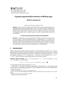 A general approximation theorem of Whitney type