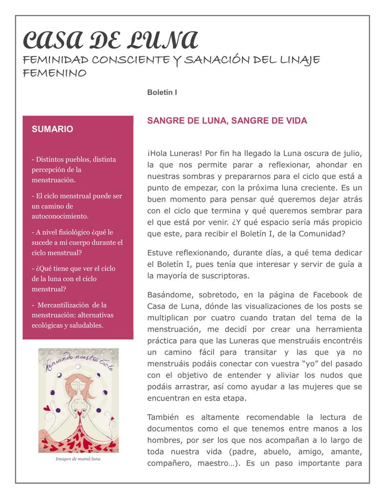 Casa De Luna Biblioteca Mujer Natural Y Energia Femenina